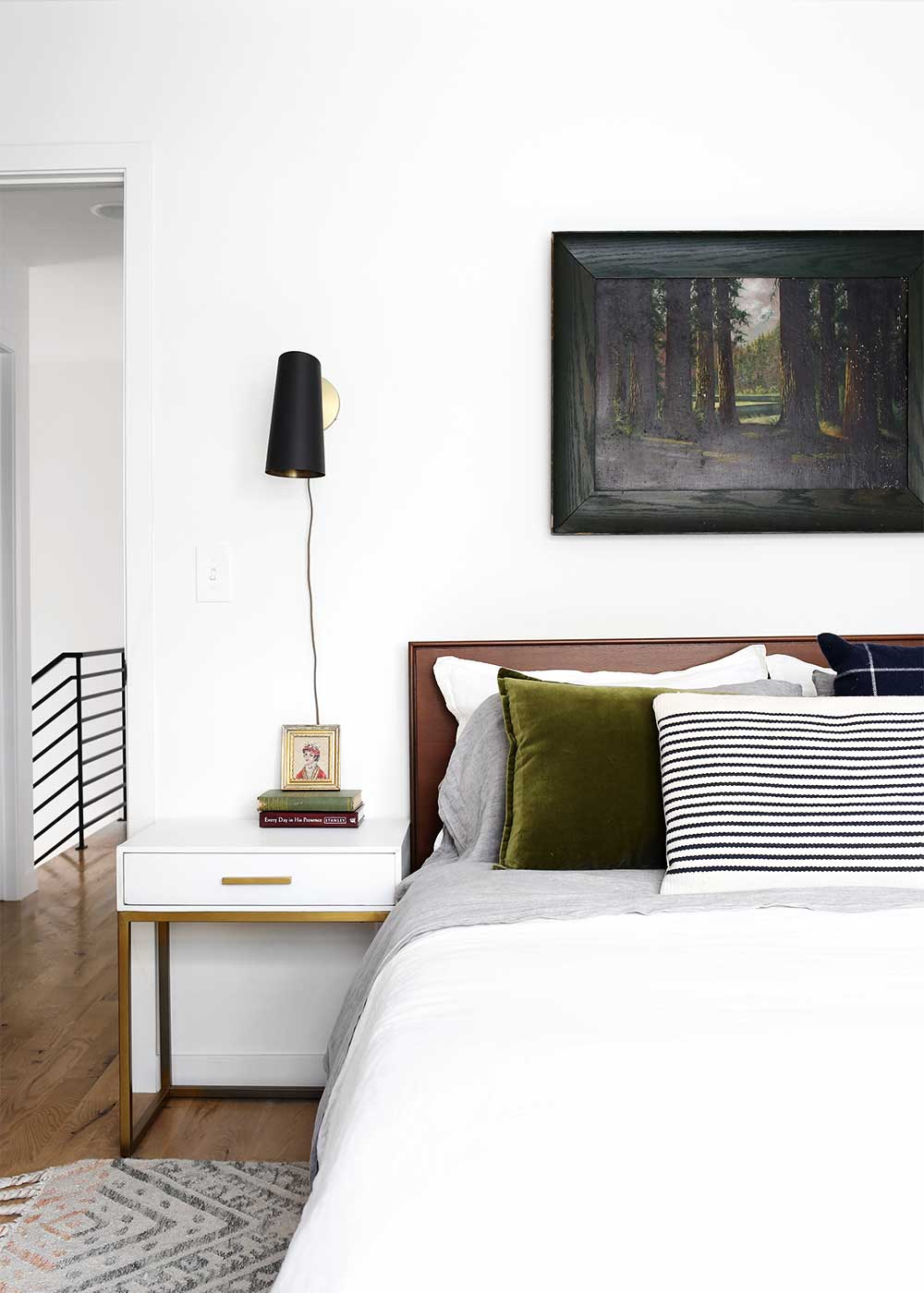 Minimal Masculine Master Bedroom design from The Fauxmartha