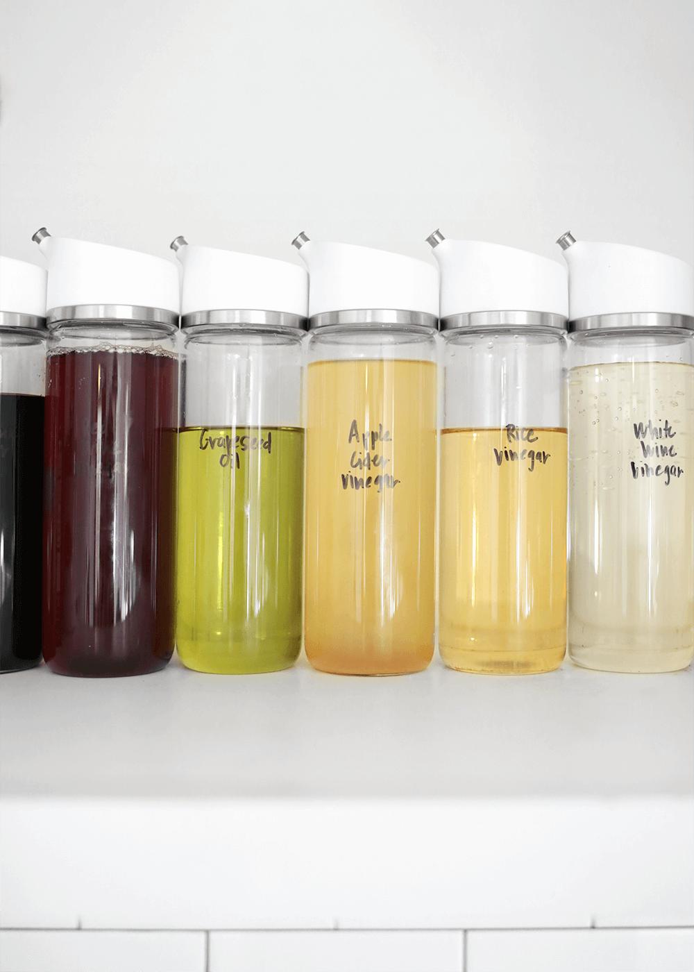 OXO vinegar bottles from the faux martha