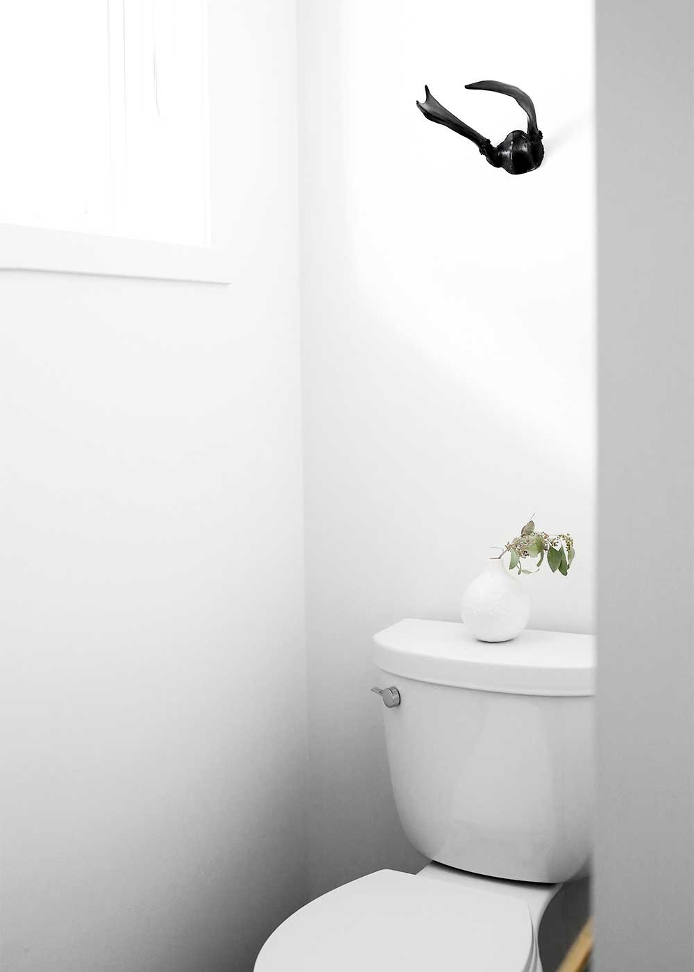 Minimal Masculine Master Bathroom Design from The Fauxmartha