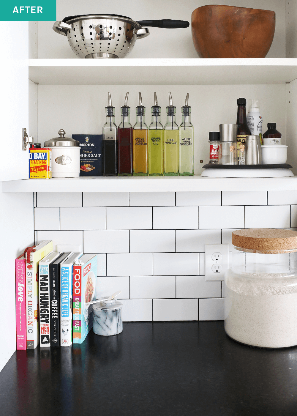 OXO turntable for organizing kitchen cabinets from The Fauxmartha