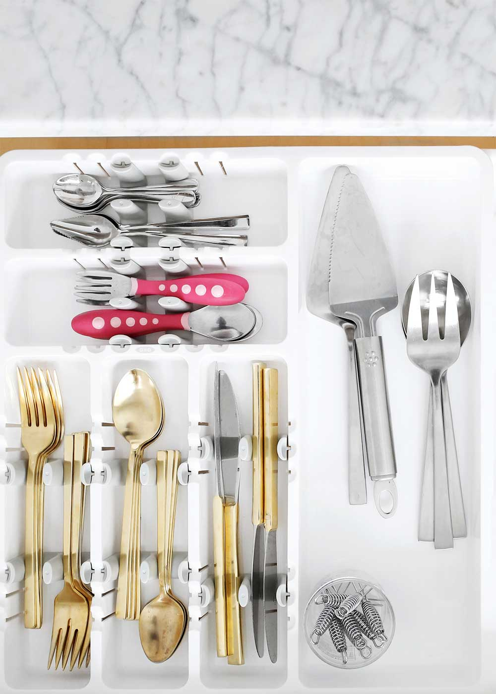 Organized drawers with OXO and The Fauxmartha