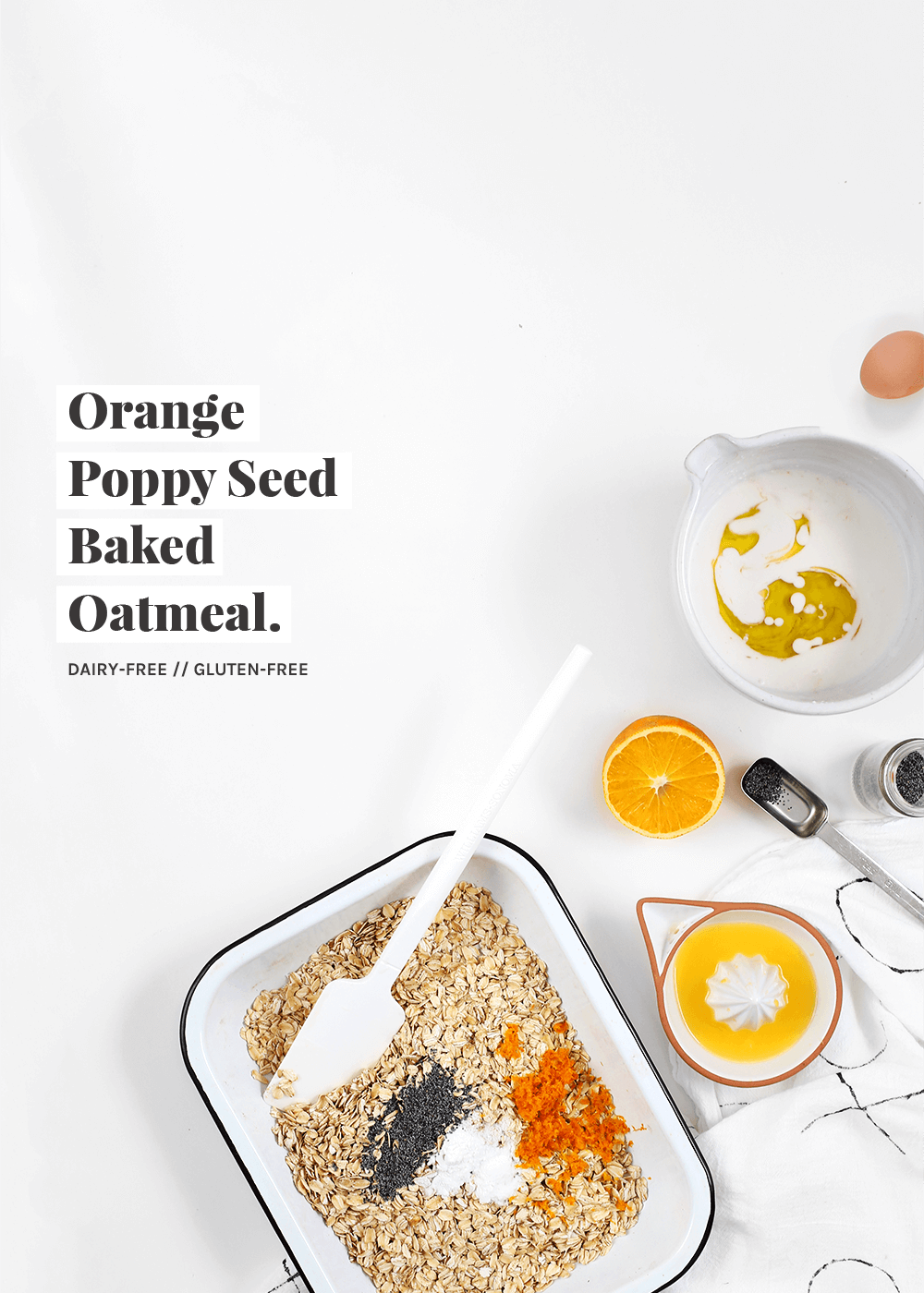 dairy-free and gluten-free Orange poppy seed baked oatmeal recipe from the fauxmartha