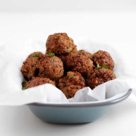 Vegetarian Swedish Meatballs from The Fauxmartha