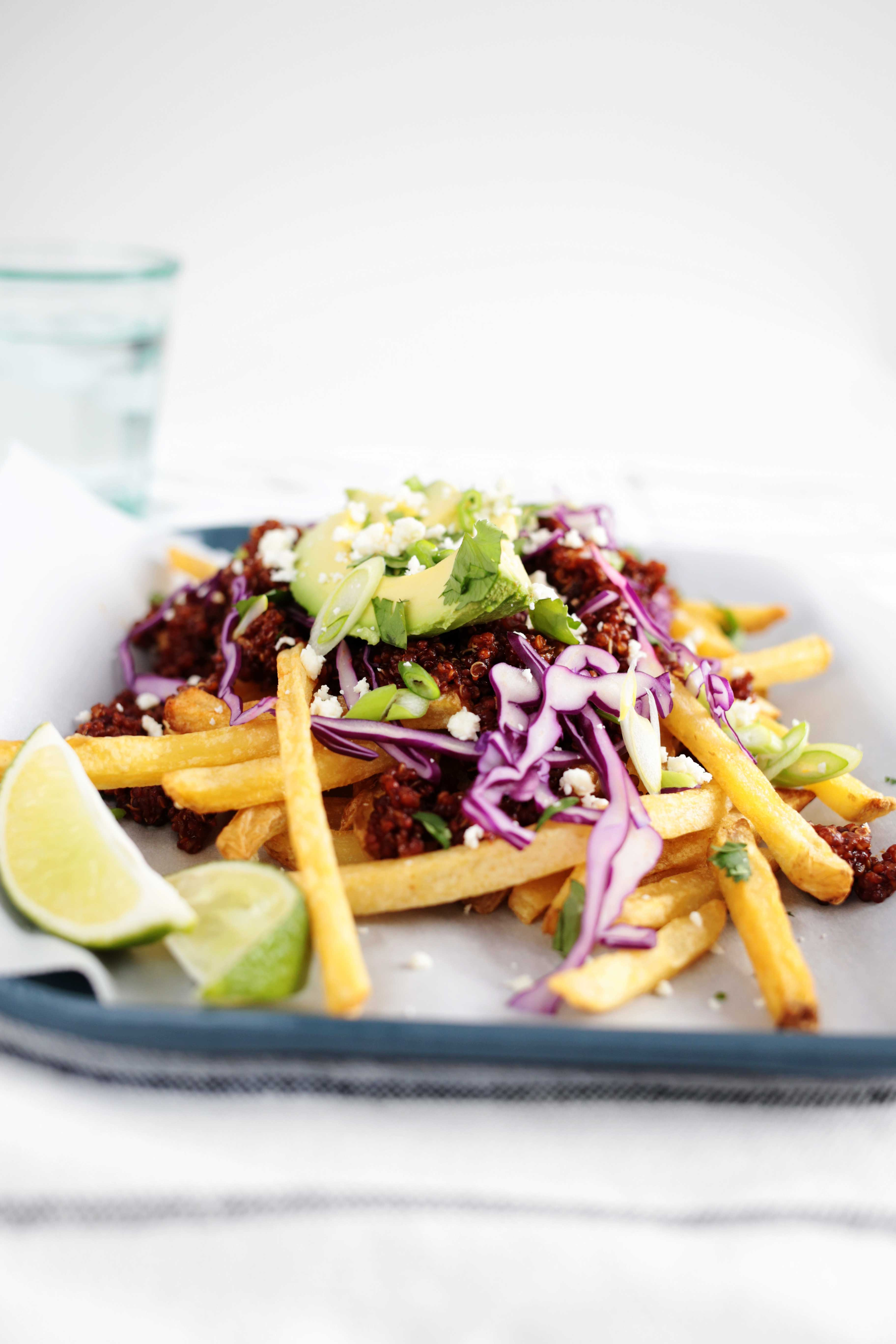 Vegetarian Chili Cheese Fries from The Fauxmartha