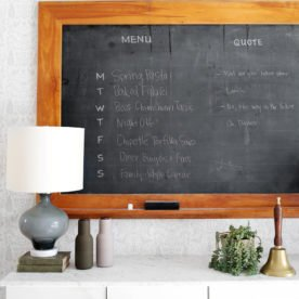 Vintage Chalkboard Menu from The Fauxmartha
