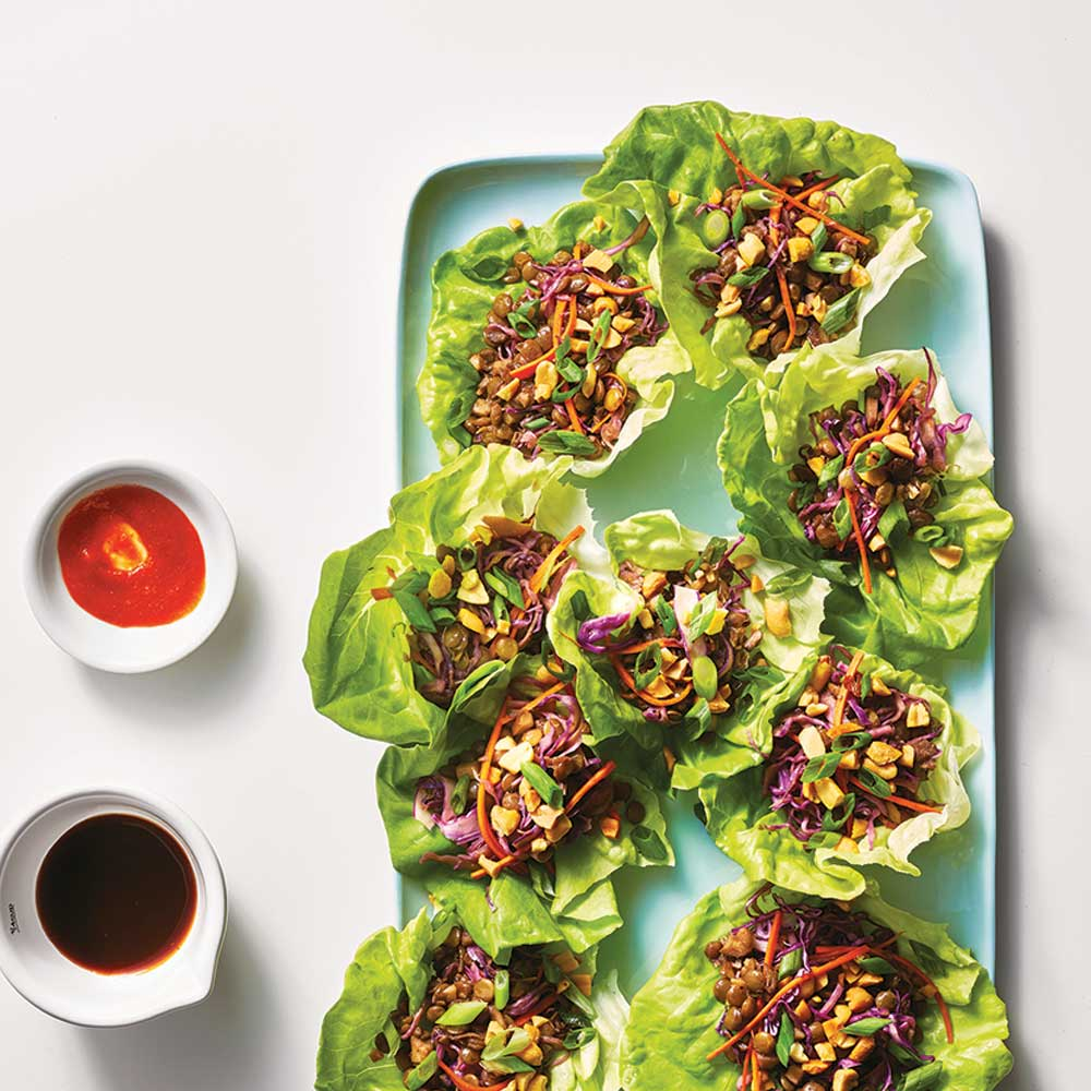 Lentil Lettuce Wraps from The Minimalist Kitchen and The Fauxmartha