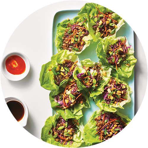 Lentil Lettuce Wraps from The Minimalist Kitchen by The Fauxmartha