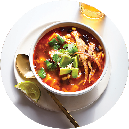 Chipotle Tortilla Soup from The Minimalist Kitchen and The Fauxmartha