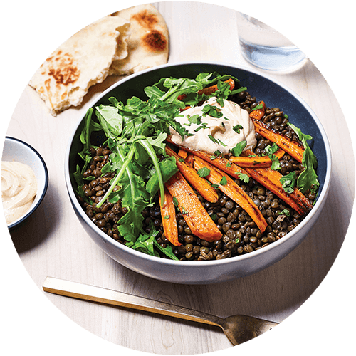 Kitchen Sink Lentil Bowls from The Minimalist Kitchen by The Fauxmartha