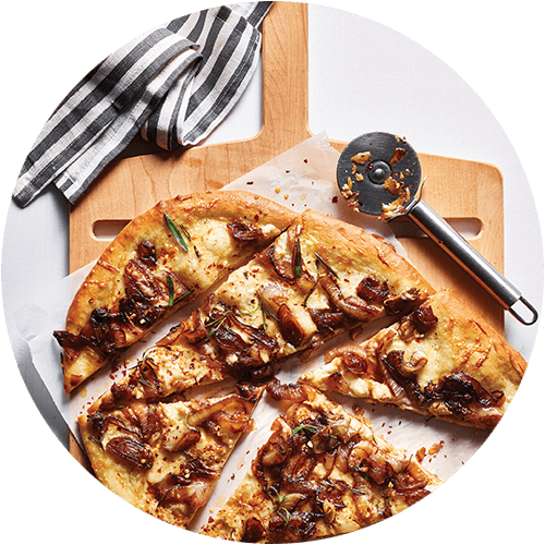 Crispy Pizza with Caramelized Onions from The Minimalist Kitchen by The Fauxmartha