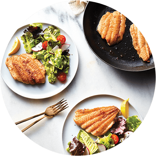 White Fish + House Salad from The Minimalist Kitchen by The Fauxmartha