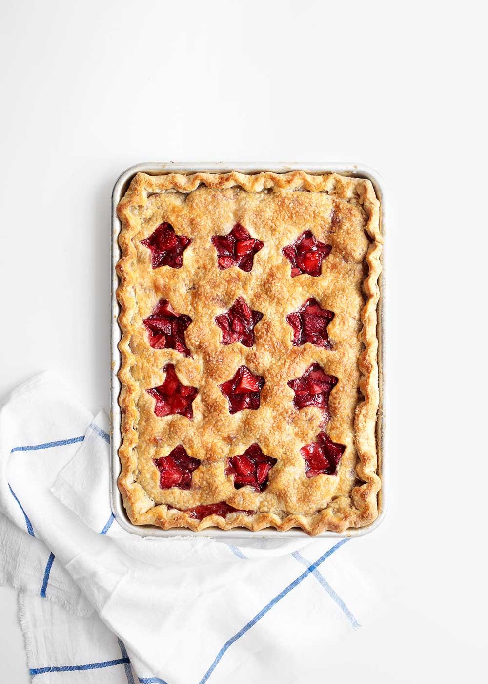Strawberry Slab Pie from The Fauxmartha