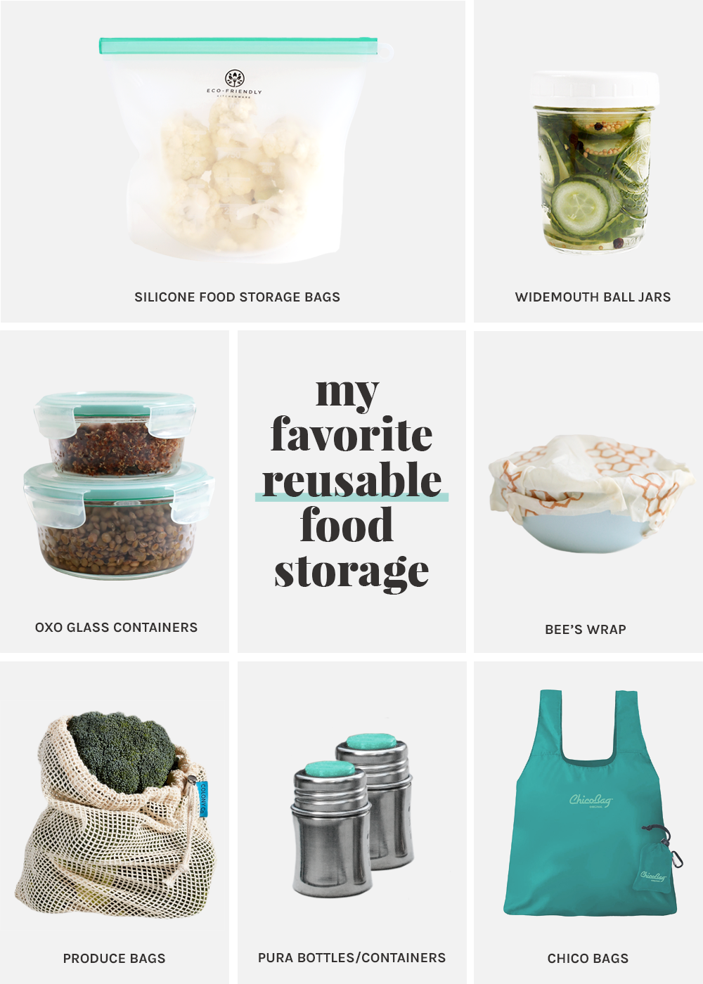 My favorite reusable food storage from The Fauxmartha