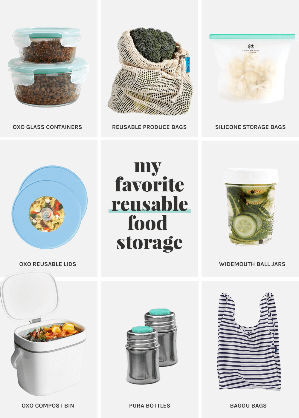 my favorite Reusable Food Storage from the faux martha