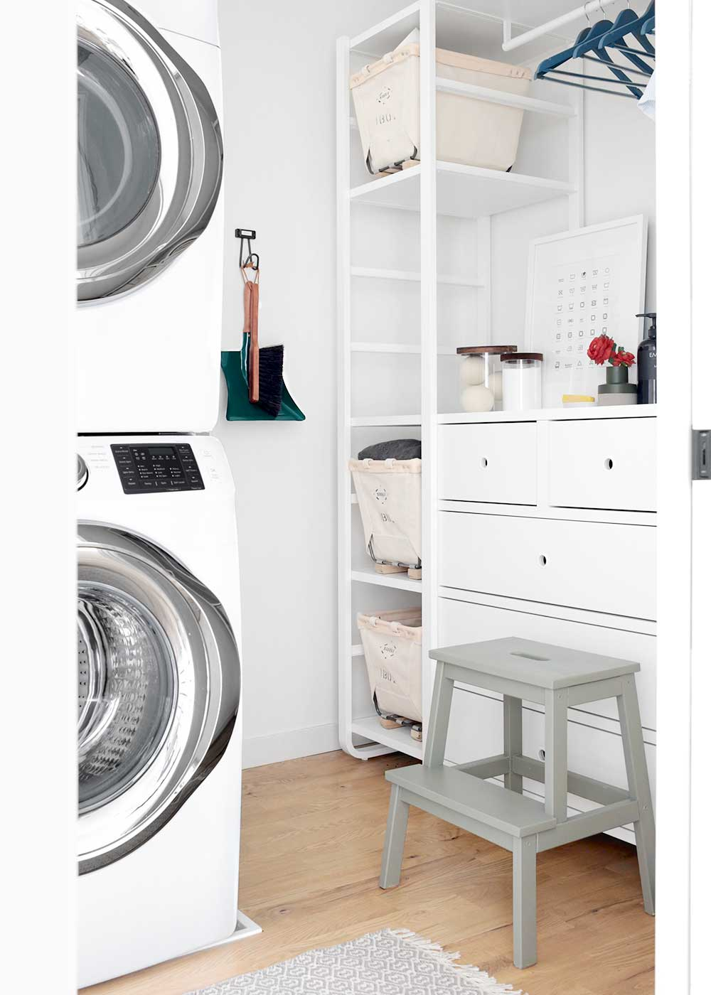 Weekend Laundry Room Makeover from The Fauxmartha using Ikea Elvarli