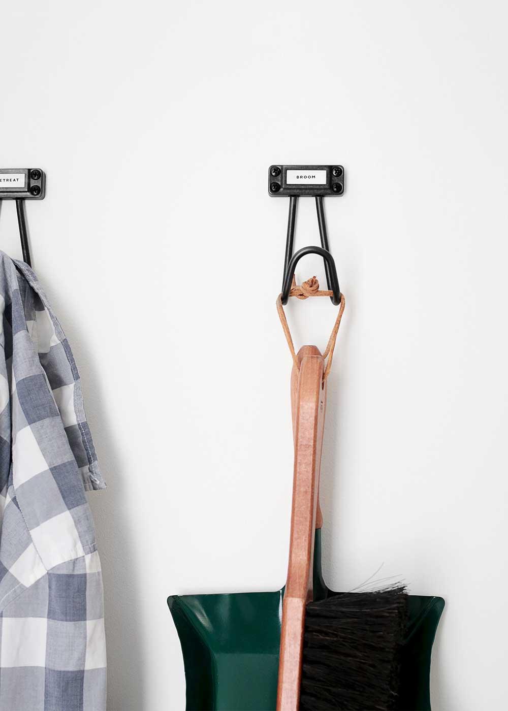 Laundry Room hooks from The Fauxmartha