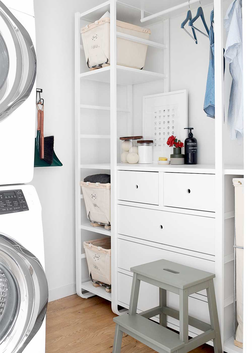 Weekend Laundry Room Makeover with Elvarli from Ikea