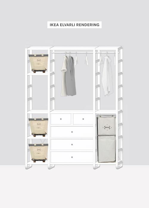 Ikea Elvarli Laundry Room rendering from The Faux Martha