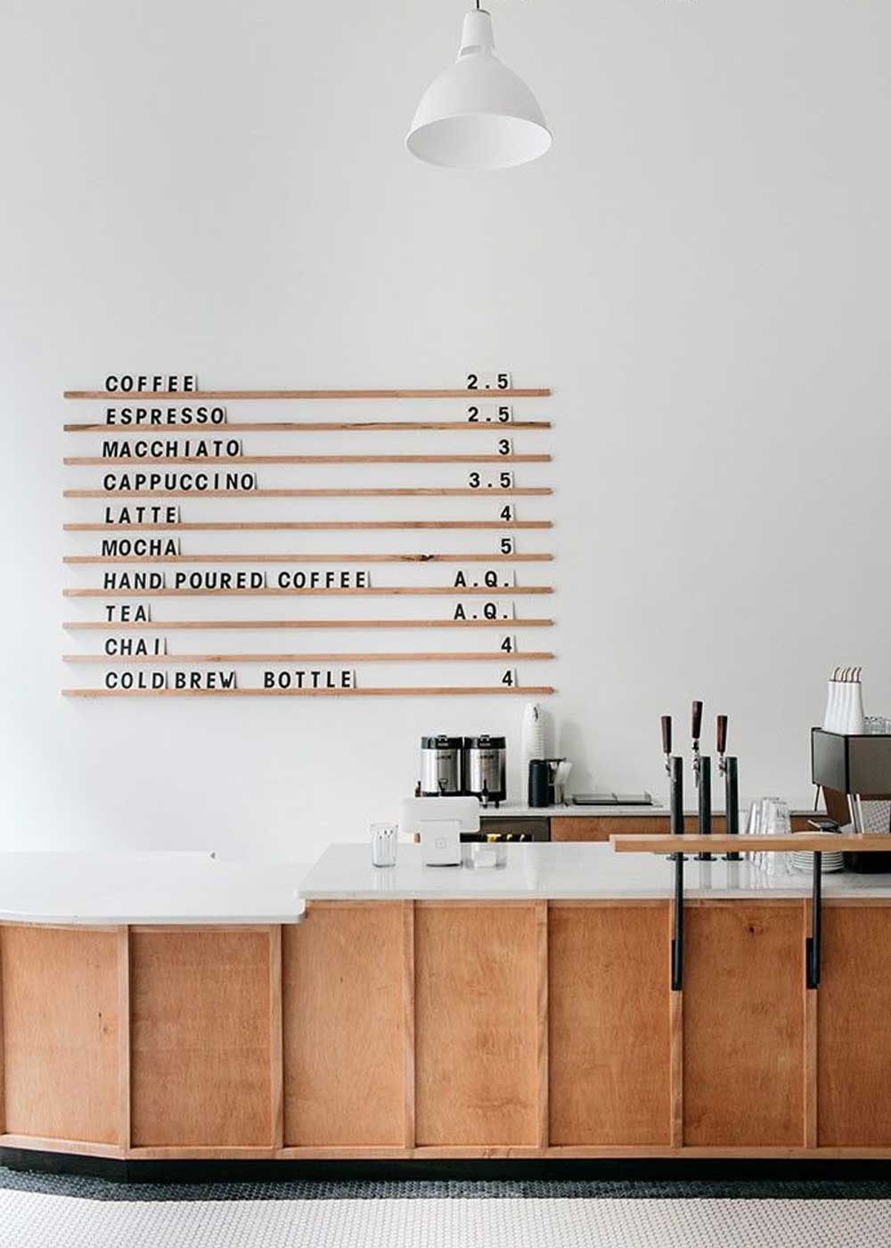 Menu Board from Passenger Coffee