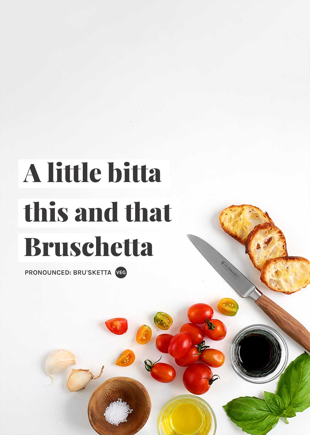Bruschetta ingredients from The Faux Martha