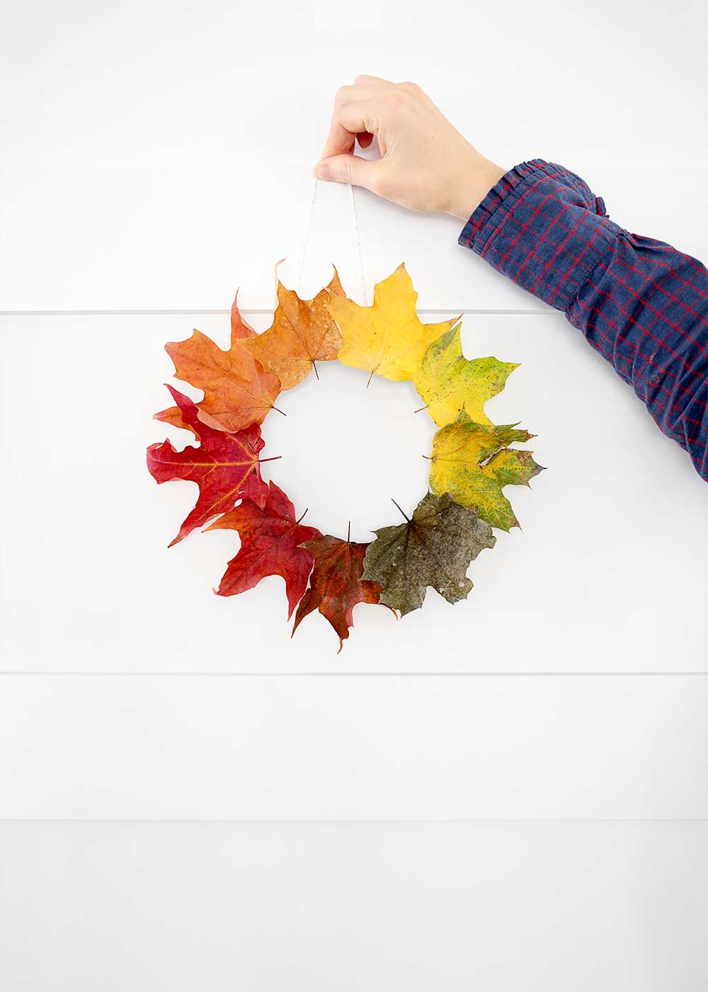 Fall leaf wreath from The Faux Martha