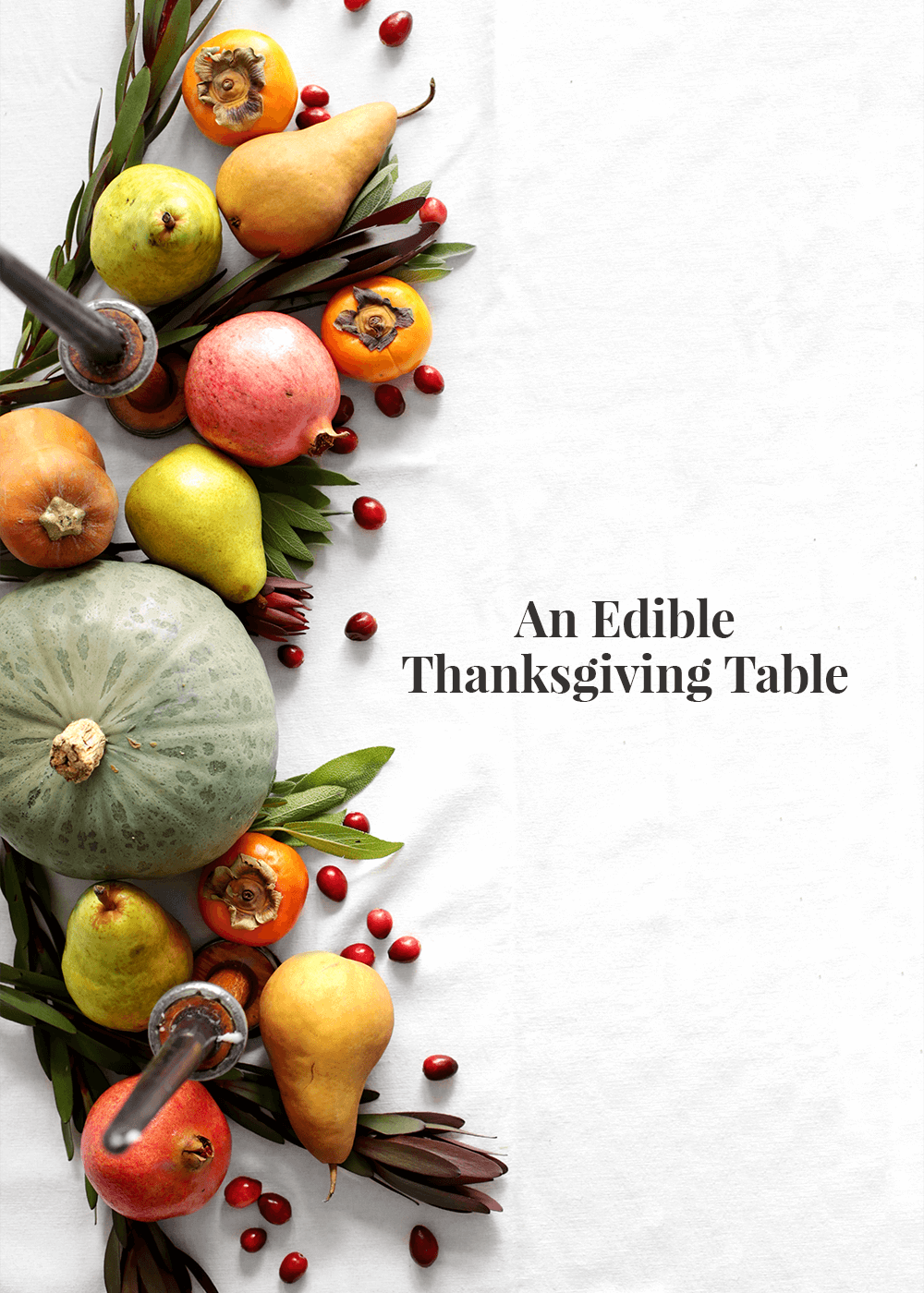 An edible thanksgiving table from The Faux Martha