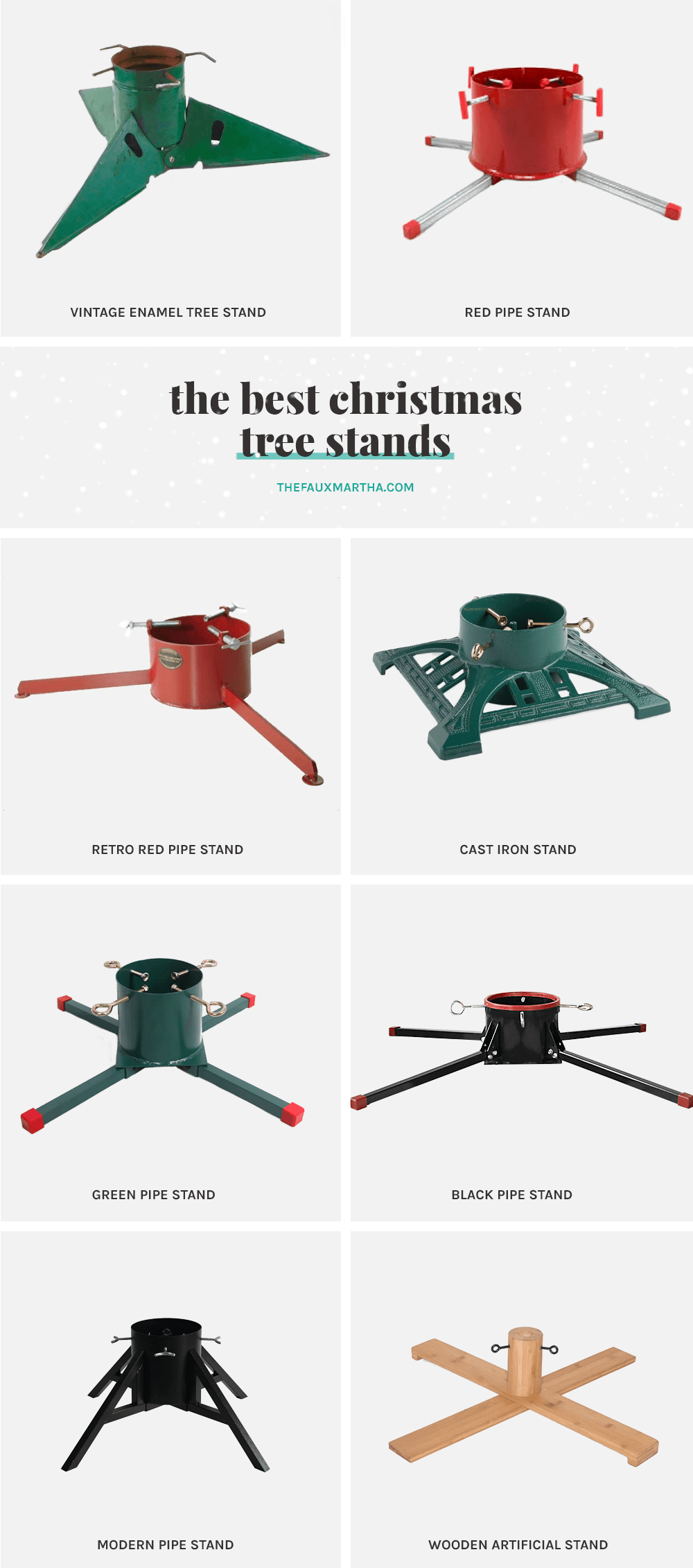 Best Christmas Tree Stands from The Faux Martha
