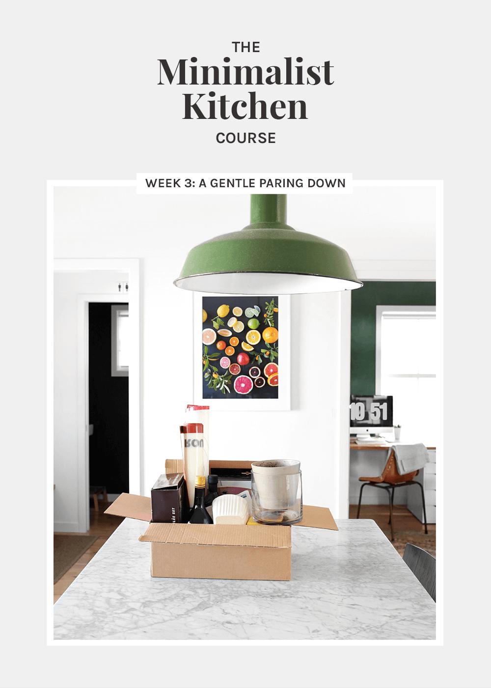 The Minimalist Kitchen Week 3: A gentle paring down