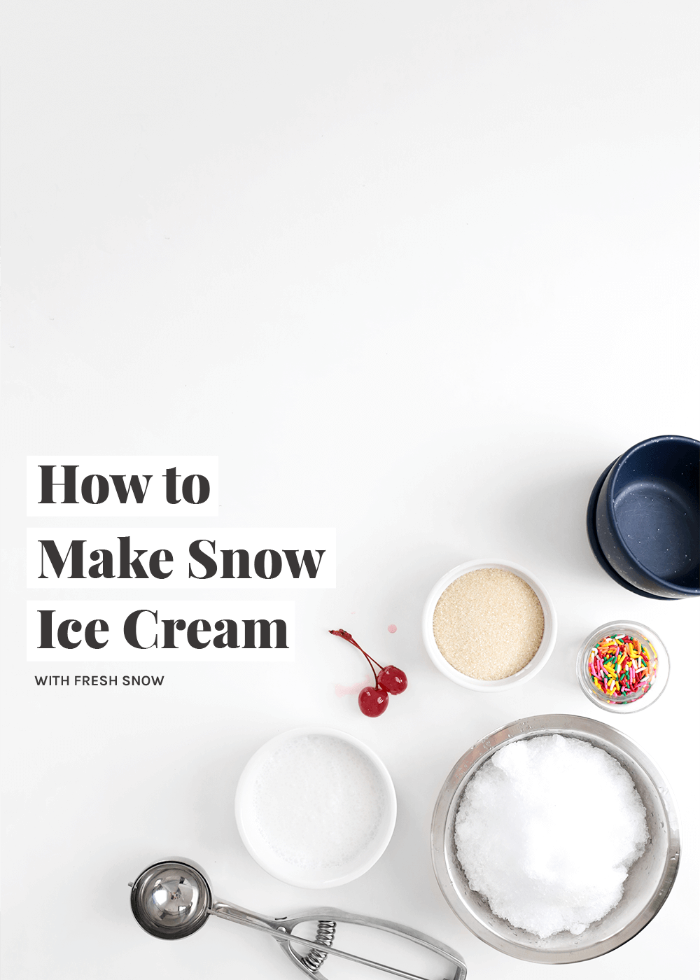 How to Make Snow Ice Cream from The Faux Martha