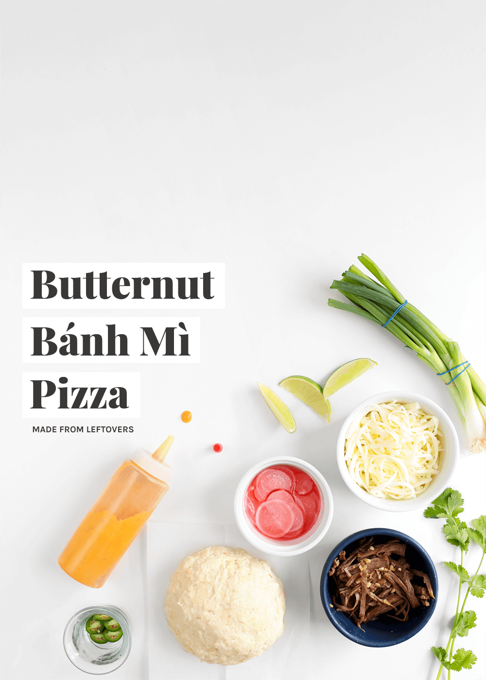Butternut Bánh Mì Pizza made from leftovers from The Faux Martha