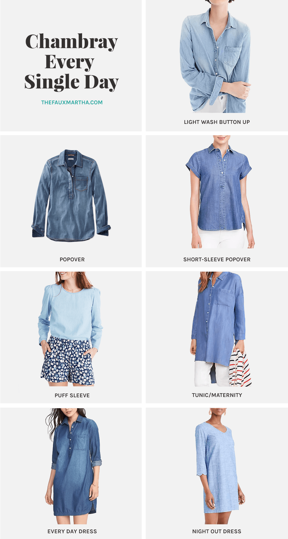 Chambray round up from The faux martha