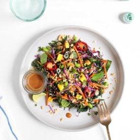 Make Ahead Thai Mango Salad from The Faux Martha