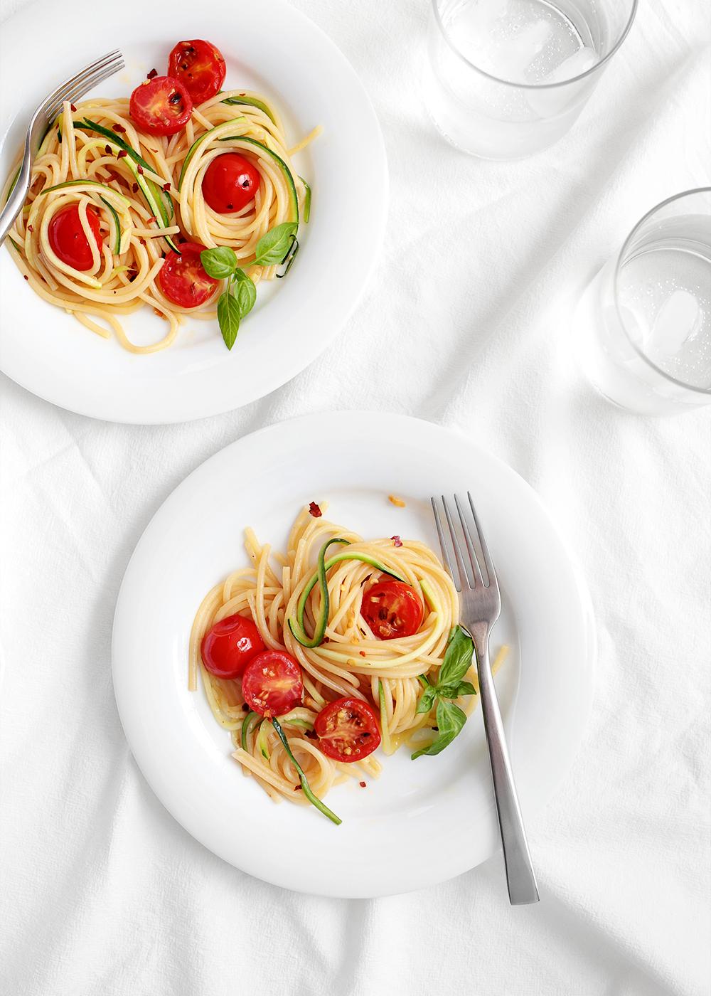 Spicy Zucchini Spaghetti recipe