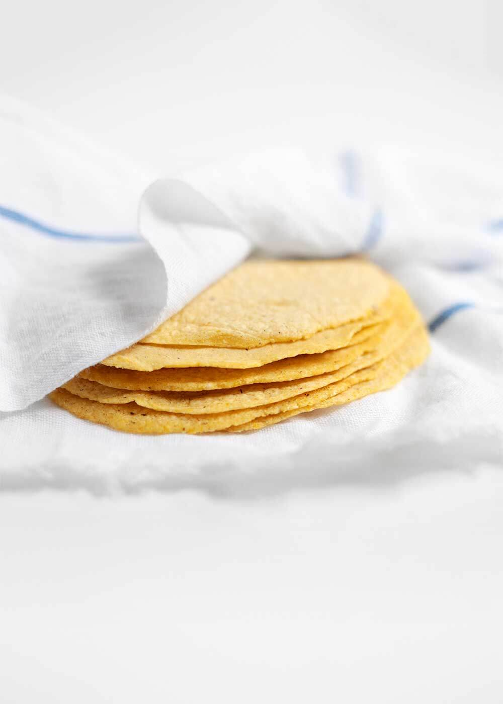 Homemade Corn Tortillas from the faux martha