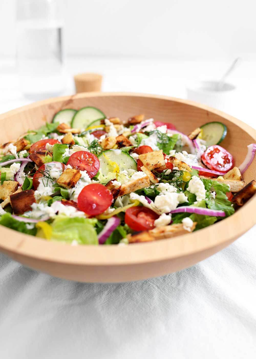 chicken gyro salad from the faux martha