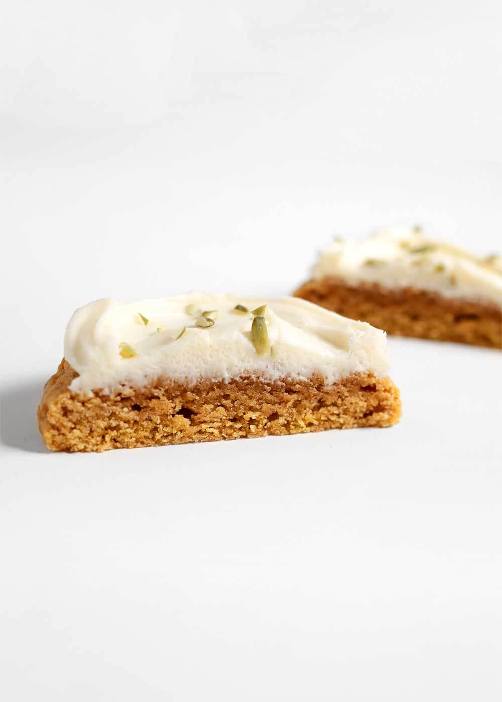 Swig Pumpkin Cookies with cream cheese frosting