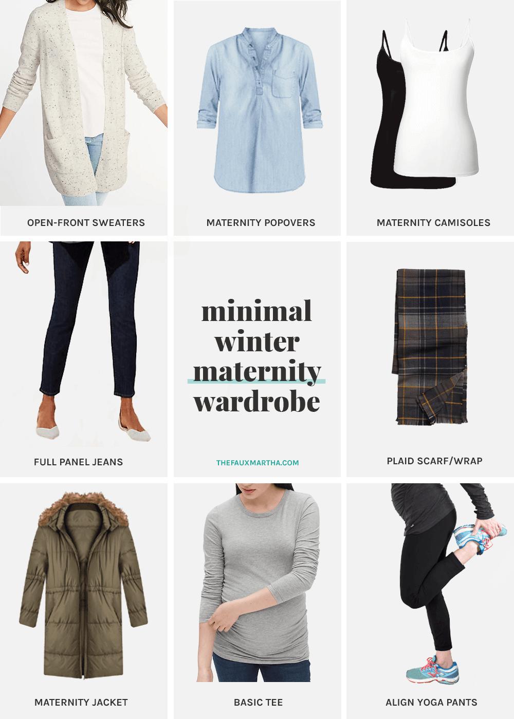 Minimal Winter Maternity Wardrobe The Faux Martha