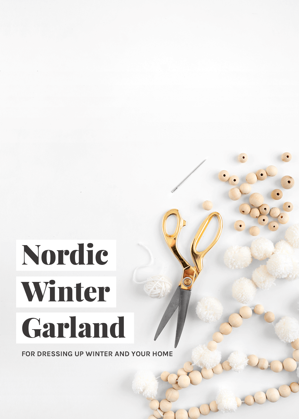 how to make a Nordic Winter Wreath with the faux martha