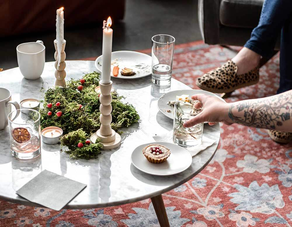 Nordic Winter Party food and drinks