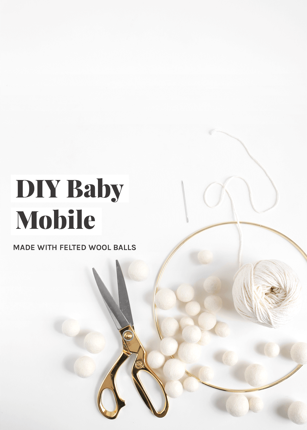 DIY baby mobile tutorial from the faux martha
