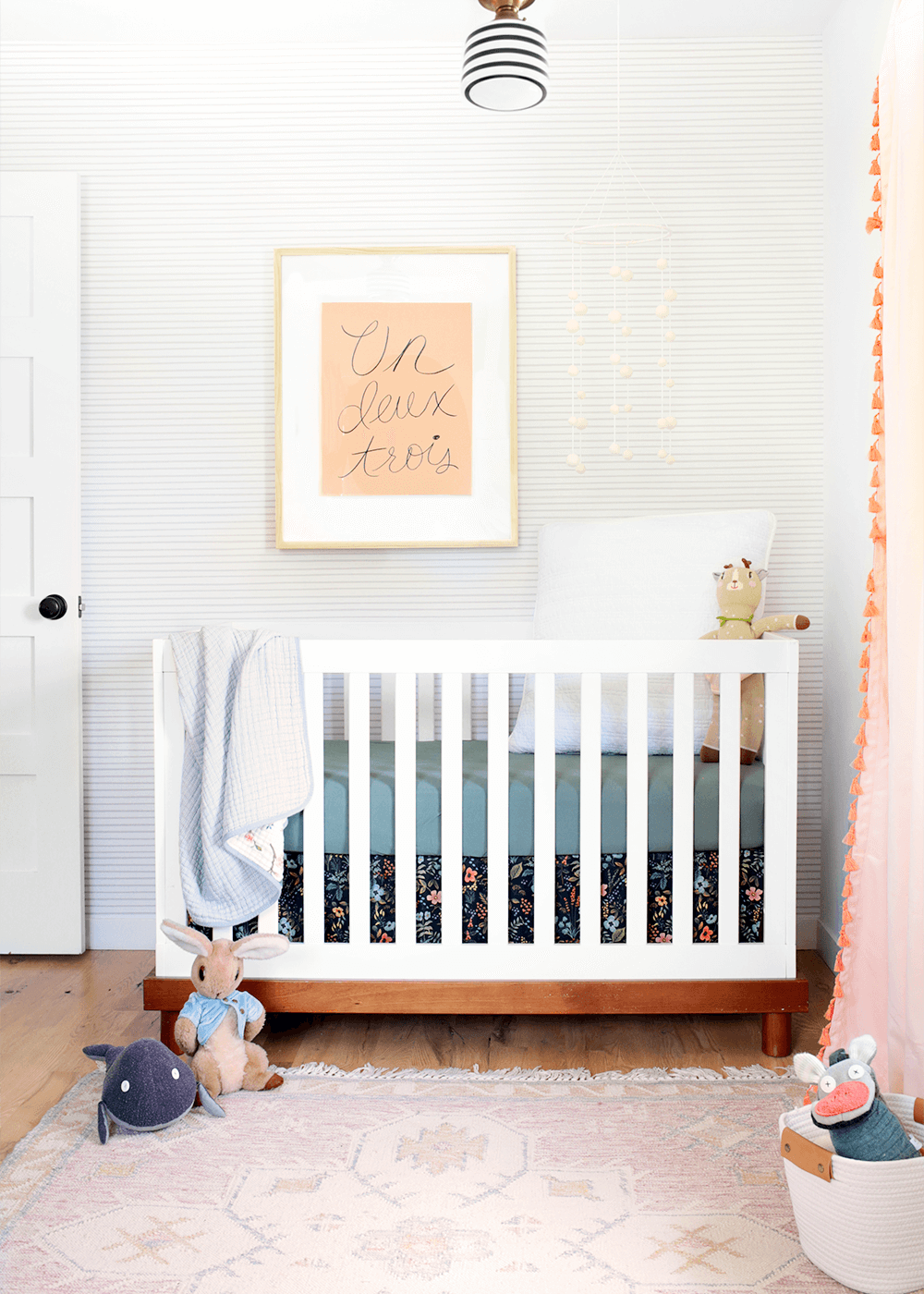 Linden's room with crib from The Faux Martha