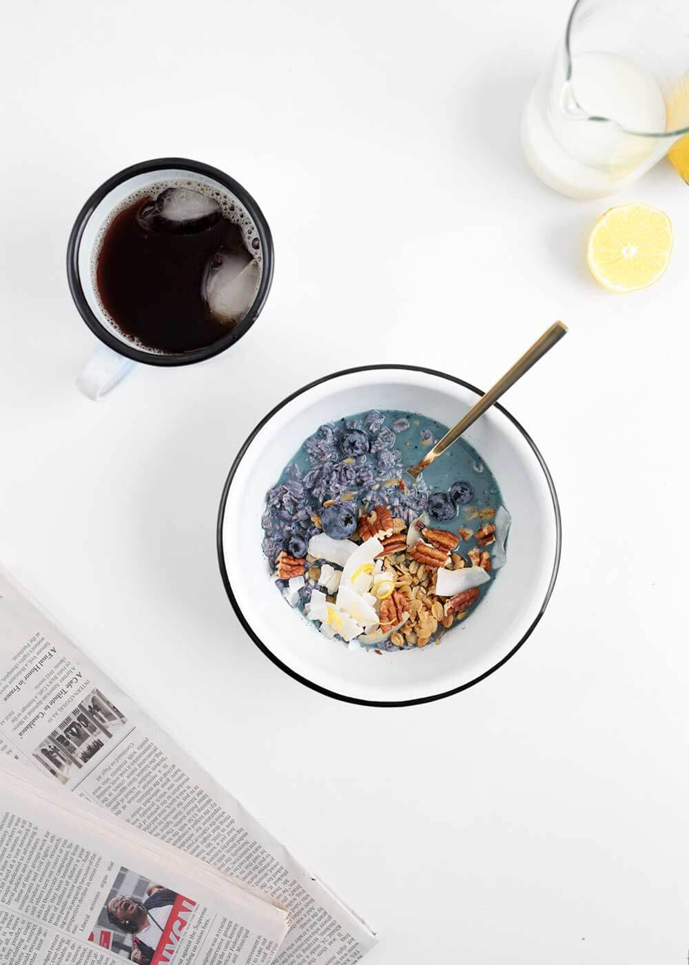 Bright Blueberry Lemon Overnight Oats from The Faux Martha
