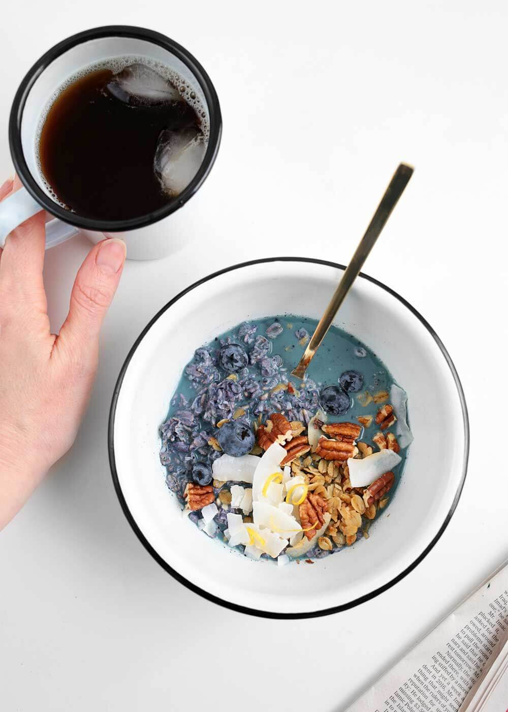 Blueberry Lemon Overnight Oats from The Faux Martha