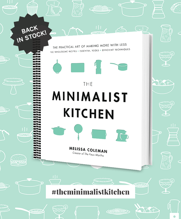 The Minimalist Kitchen cookbook from The Faux Martha