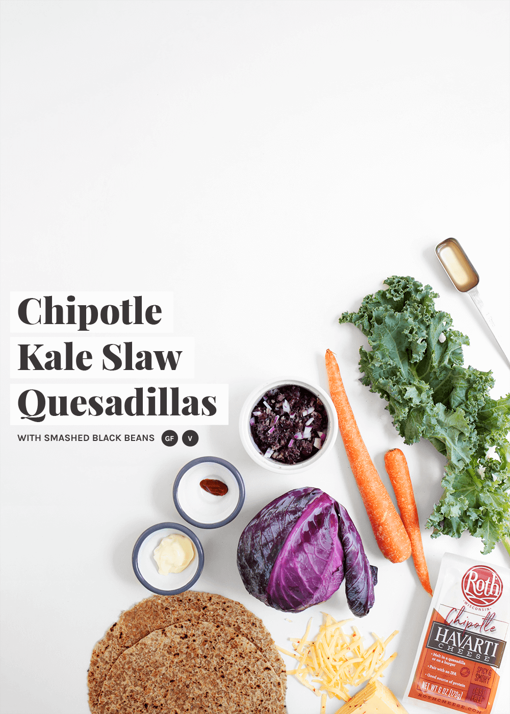 Chipotle Kale Slaw Quesadillas from the faux martha