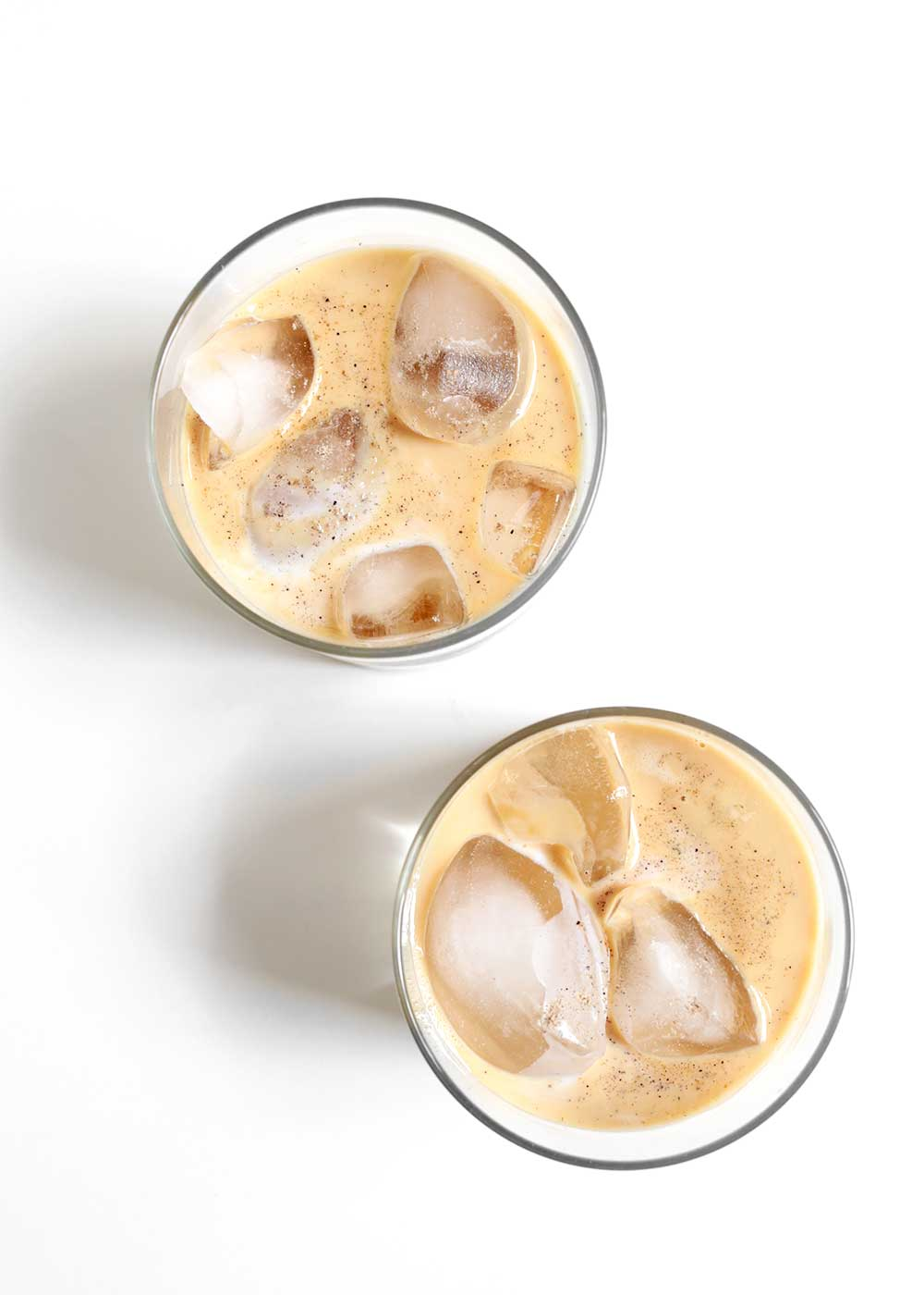 iced maple cardamom latte from the faux martha