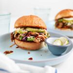BBQ pulled jackfruit sandwiches from the faux martha