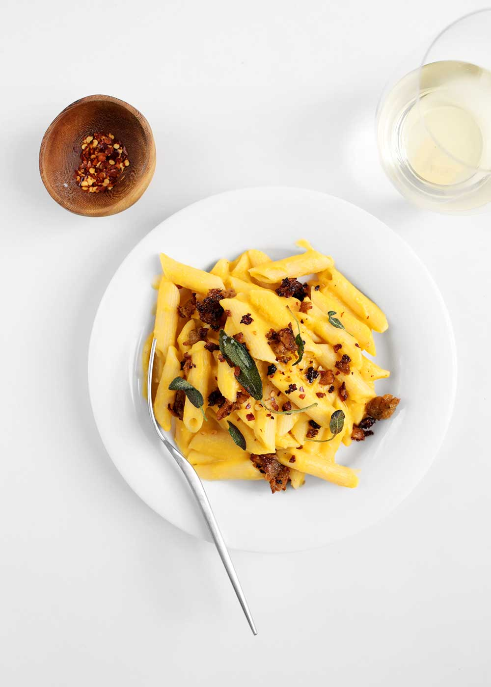 Creamy Dairy-Free Butternut Pasta from The Faux Martha