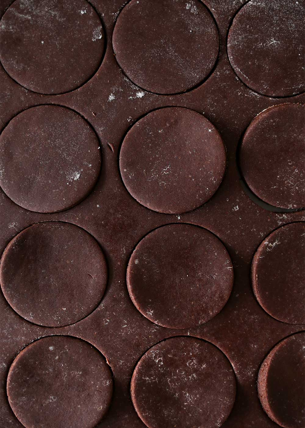 Chocolate Cut-Out Cookies from the faux martha