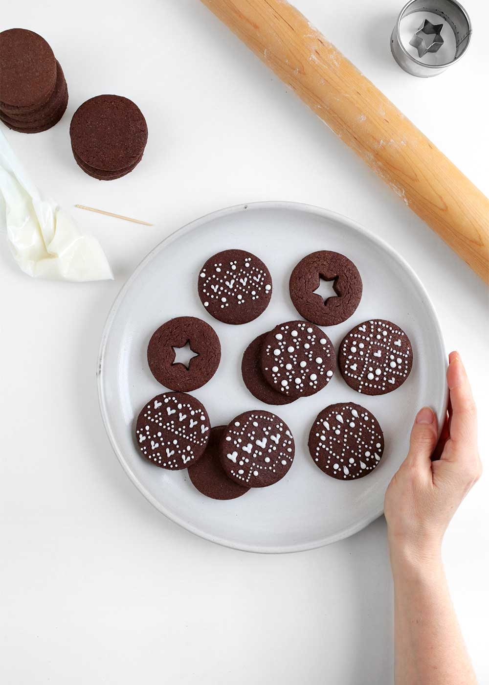 nordic Chocolate Cardamom Rye Cut-Out Cookies from the faux martha
